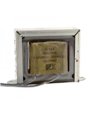 Inductor, Filter, Ind 6H, Tol -20%, +50%, Cur 200mA, Leads, DCR 150 Ohms