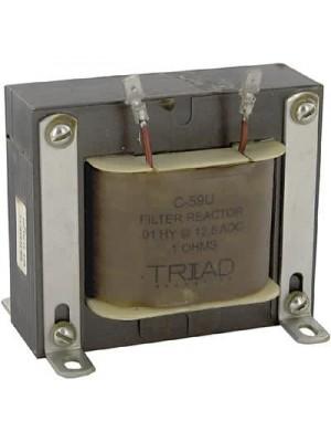 Inductor, Filter, Ind 0.01H, Tol -20%, +50%, Cur 12.5A, Lug, DCR 0.1 Ohms
