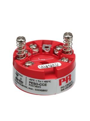2-Wire Temperature Transmitter; RTD/Lin.R Inpt; 4-20mA; Sensor Hd Mnt
