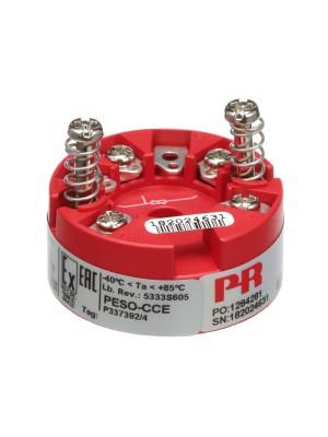 2-Wire Temperature Transmitter; I.S. RTD/Lin. R Inpt; 4-20mA; Sensor Hd Mnt